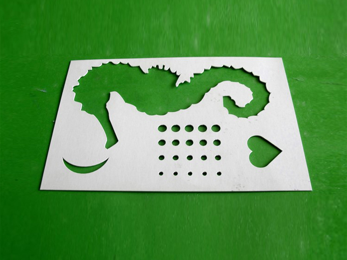 Gray Paper Cutting Sample